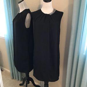 Basic Black Tunic Dress 00345